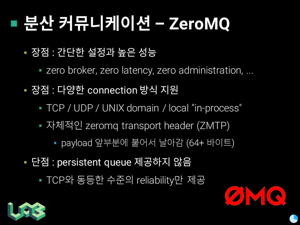 쭒칾 쥲삖핂켦 – ZeroMQ ▪ 핳헞 : 맒삶 컲헣뫊 뽠픎 컿쁳 ▪ zero br...