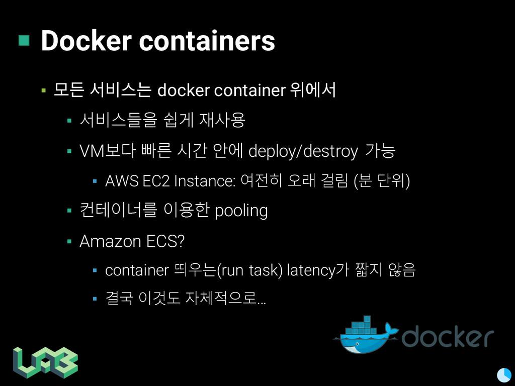 Docker containers ▪ 졶슮 컪찒큲쁢 docker container 퓒펞...