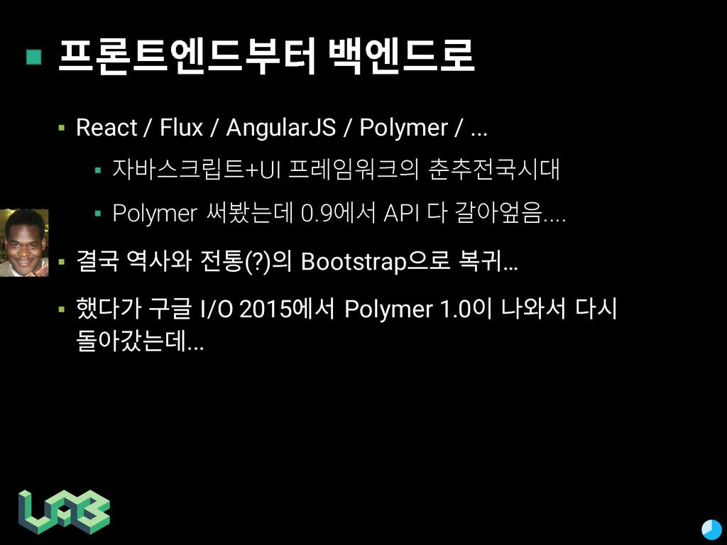 옮펢슪쭎 짿펢슪옪 ▪ React / Flux / AngularJS / Polyme...