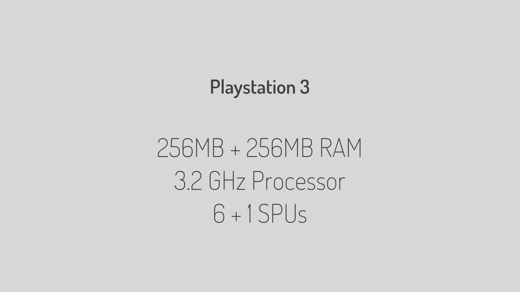 Playstation 3 256MB + 256MB RAM 3.2 GHz Process...