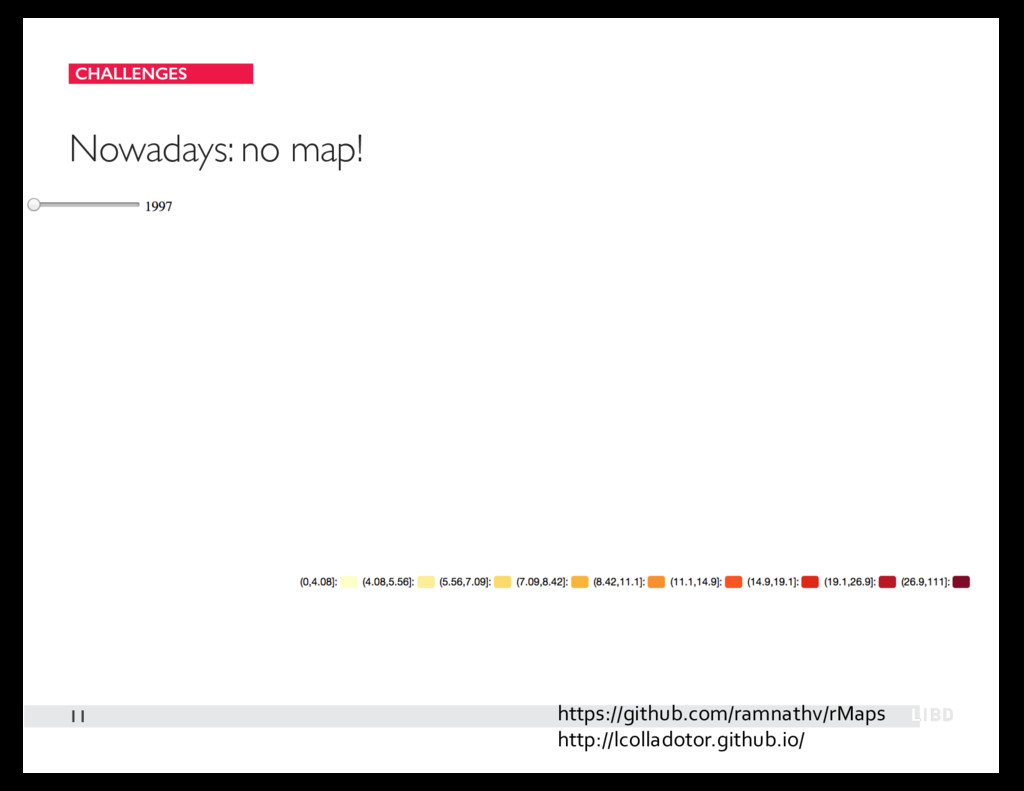 CHALLENGES 11 Nowadays: no map! https://github....
