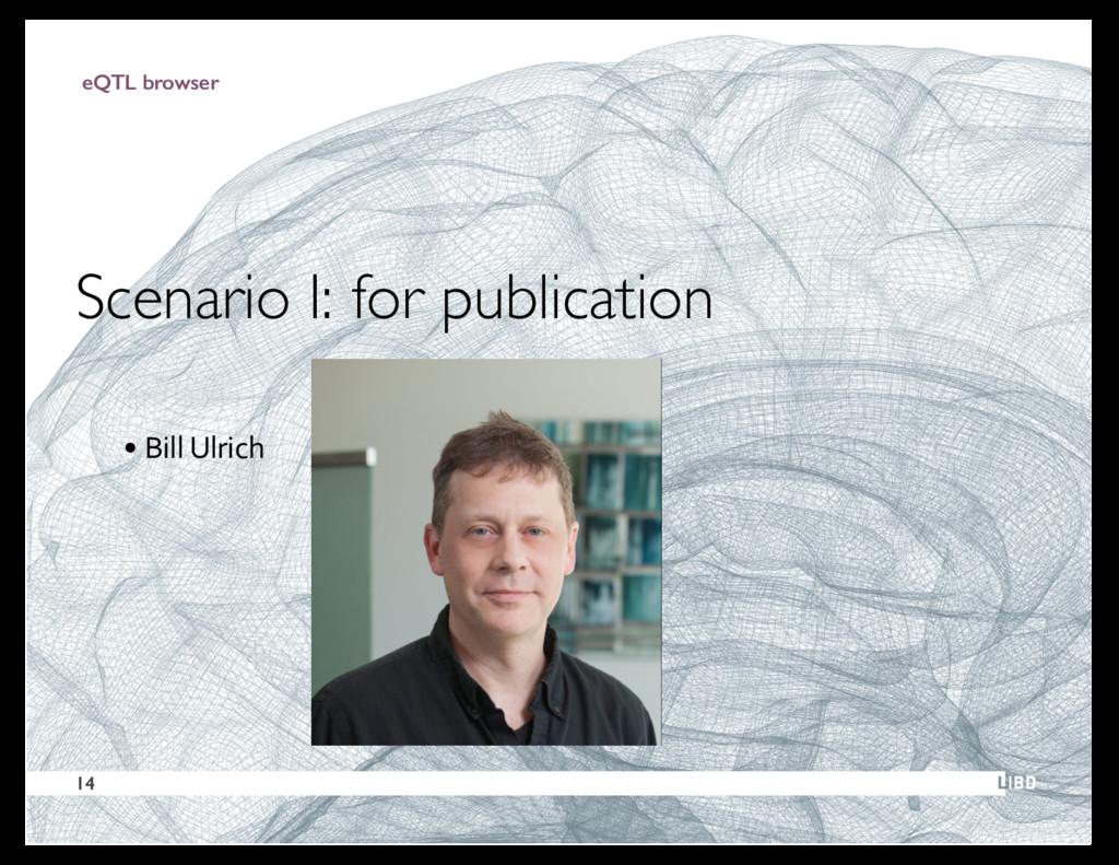 29 eQTL browser Scenario I: for publication • B...