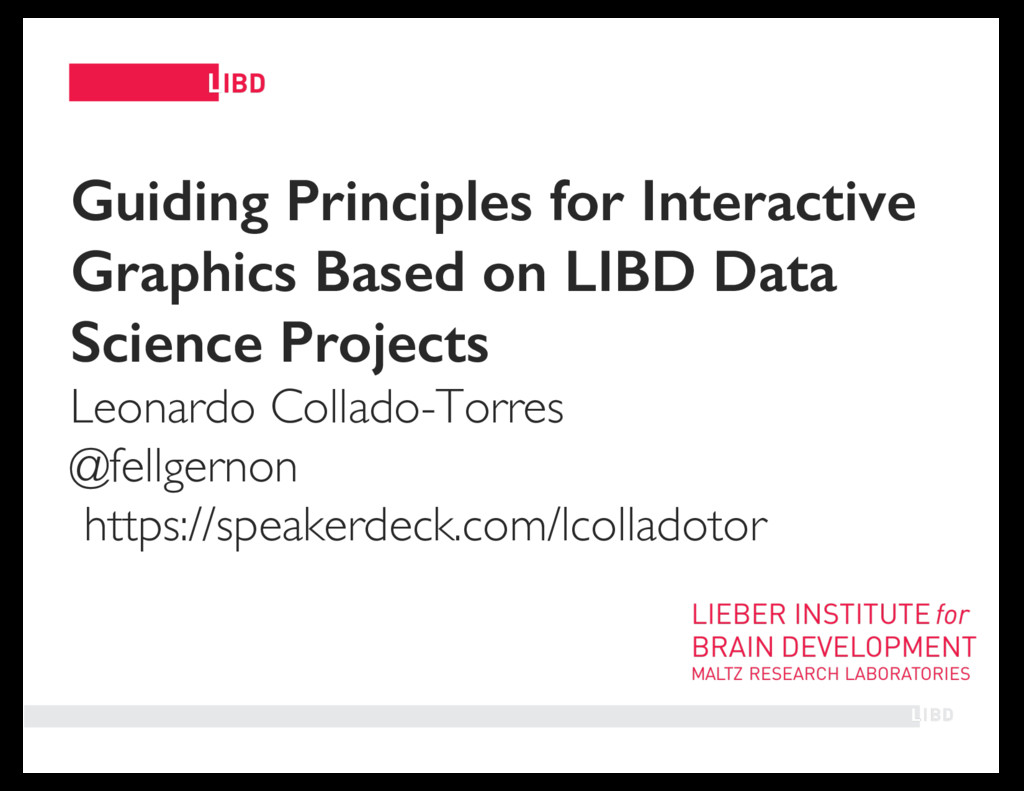 11 Guiding Principles for Interactive Graphics ...