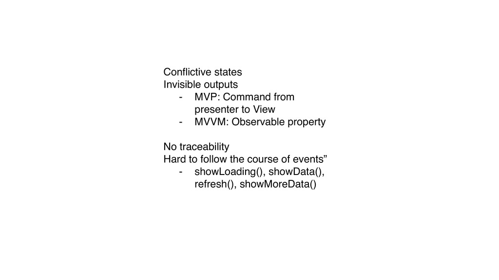 Conflictive states Invisible outputs - MVP: Comm...
