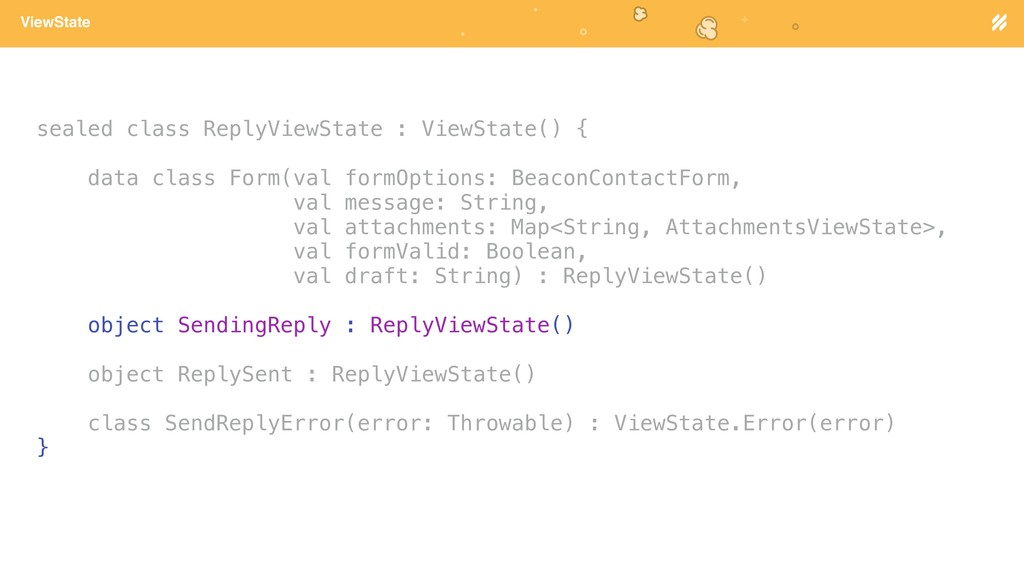 Page heading ViewState sealed class ReplyViewSt...