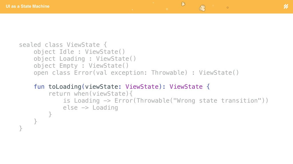 Page heading UI as a State Machine sealed class...