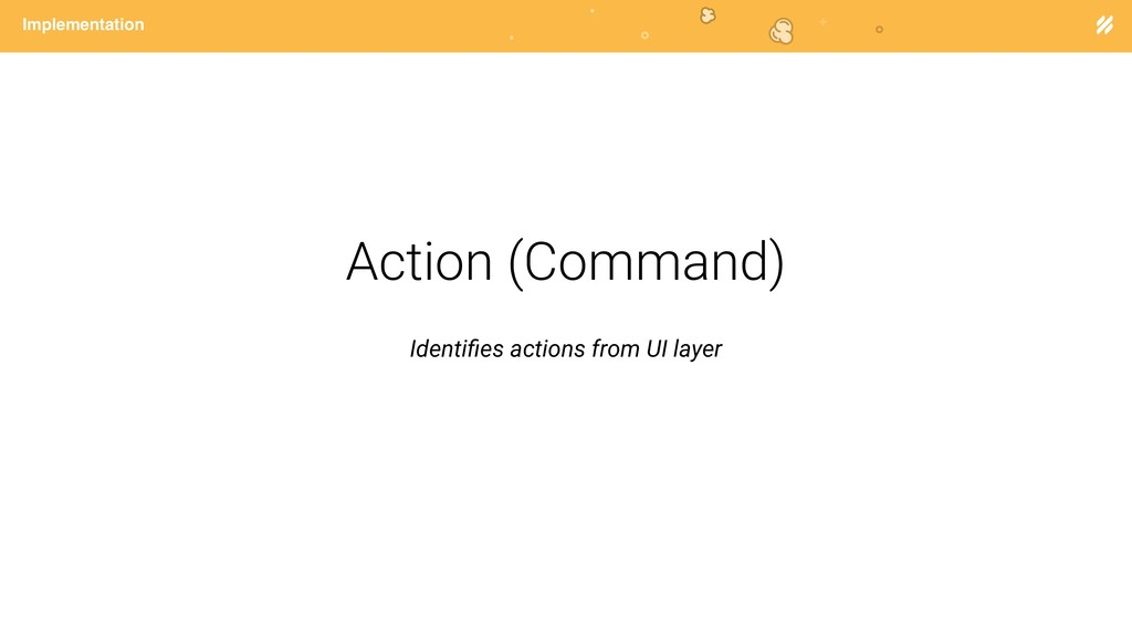 Page heading Implementation Action (Command) Id...