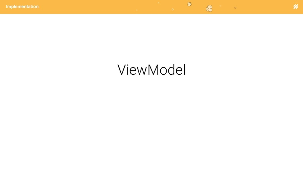 Page heading Implementation ViewModel