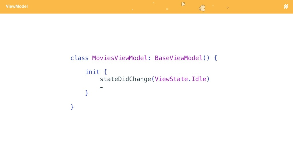 Page heading ViewModel class MoviesViewModel: B...