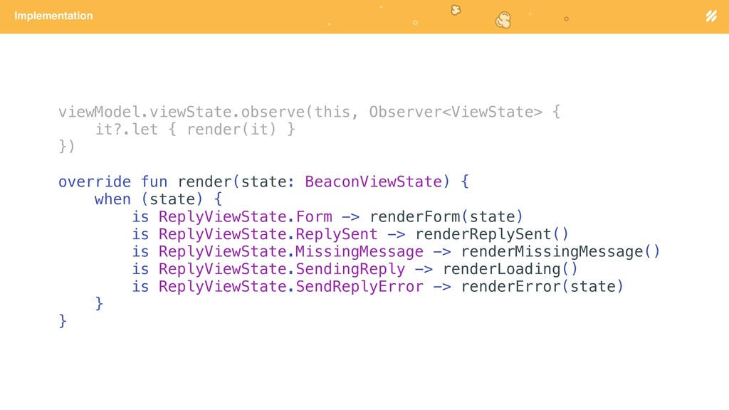 Page heading Implementation viewModel.viewState...