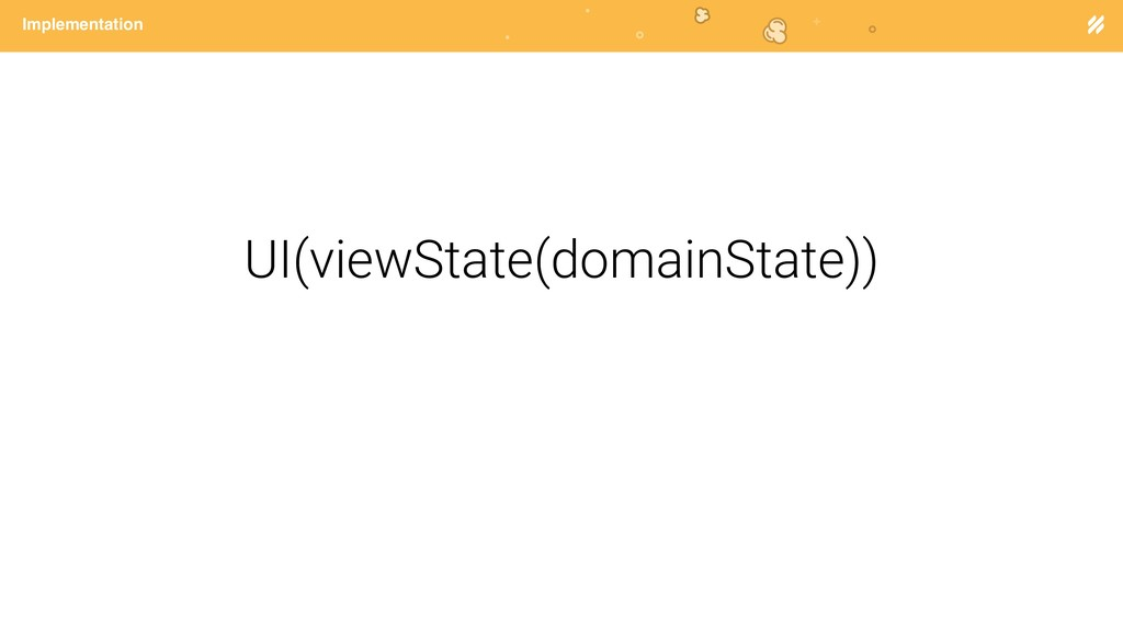 Page heading Implementation UI(viewState(domain...
