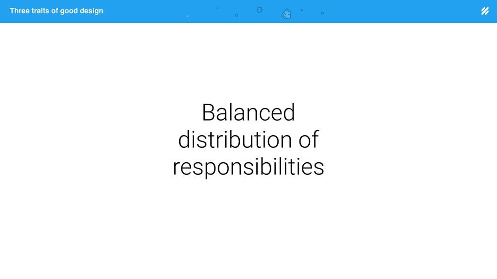 Page heading Three traits of good design Balanc...