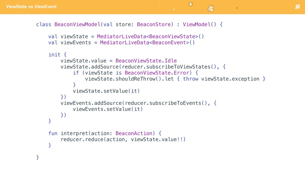 Page heading ViewState vs ViewEvent class Beaco...