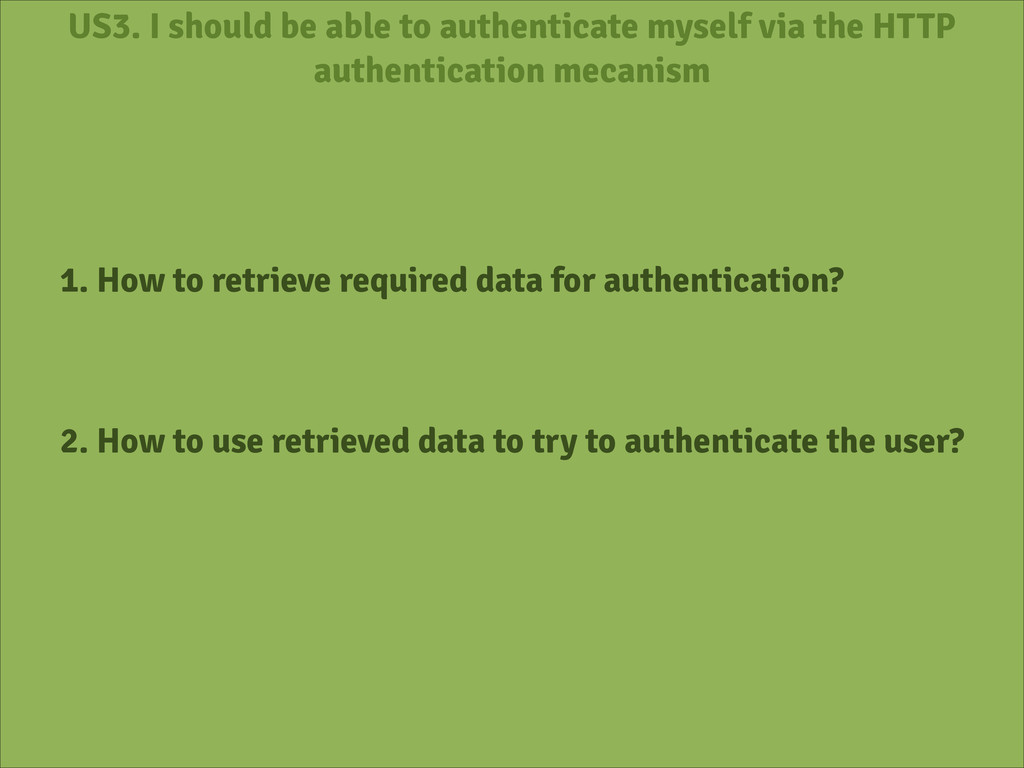 US3. I should be able to authenticate myself vi...