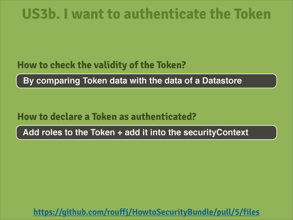 US3b. I want to authenticate the Token By compa...