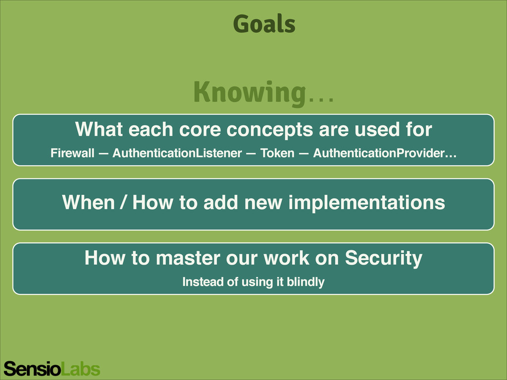 Goals What each core concepts are used for! Fir...