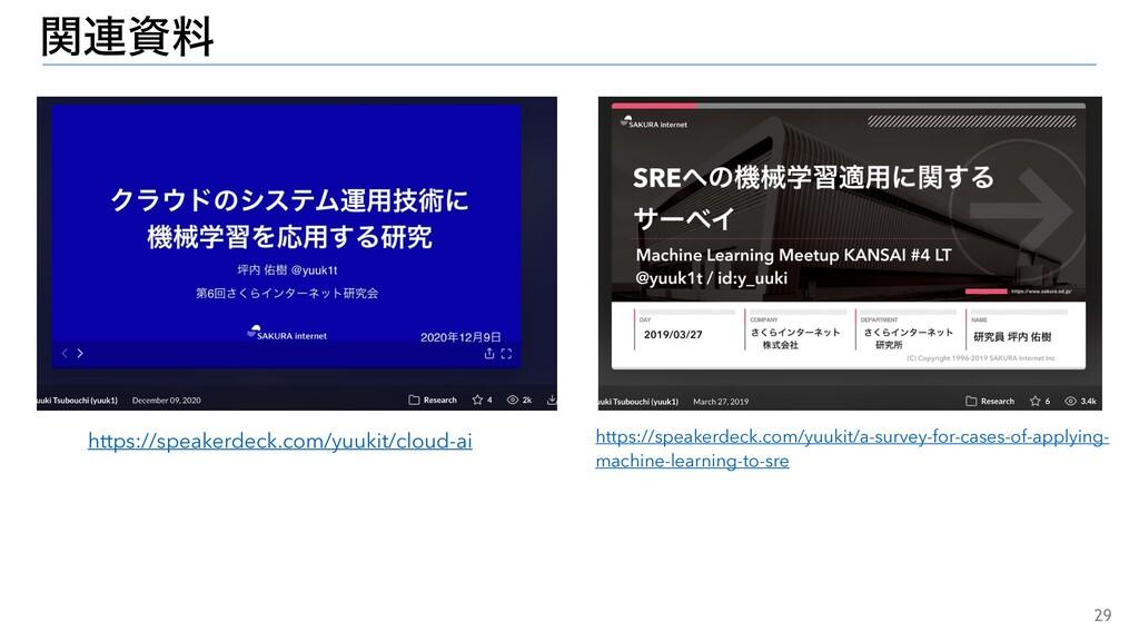 29 ؔ࿈ྉ https://speakerdeck.com/yuukit/cloud-ai...