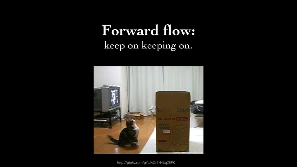 Forward flow: 	 