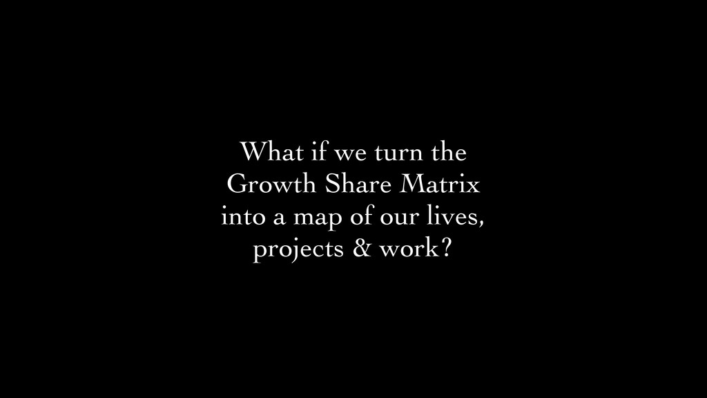 What if we turn the Growth Share Matrix into a ...