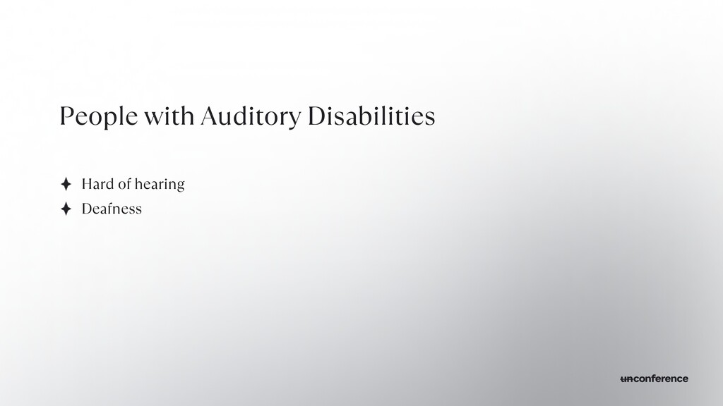 People with Auditory Disabilities Hard of heari...