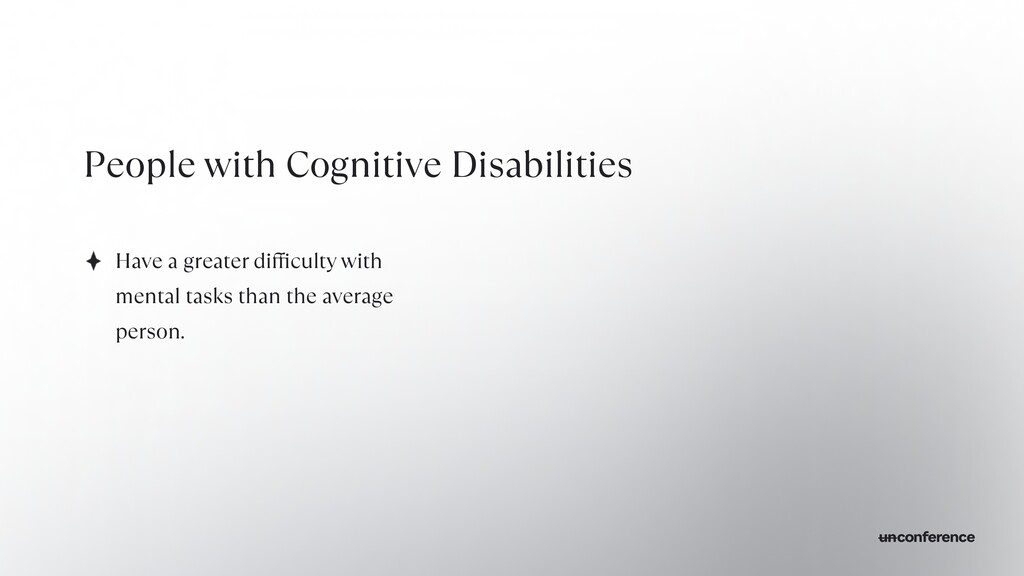 People with Cognitive Disabilities Have a great...