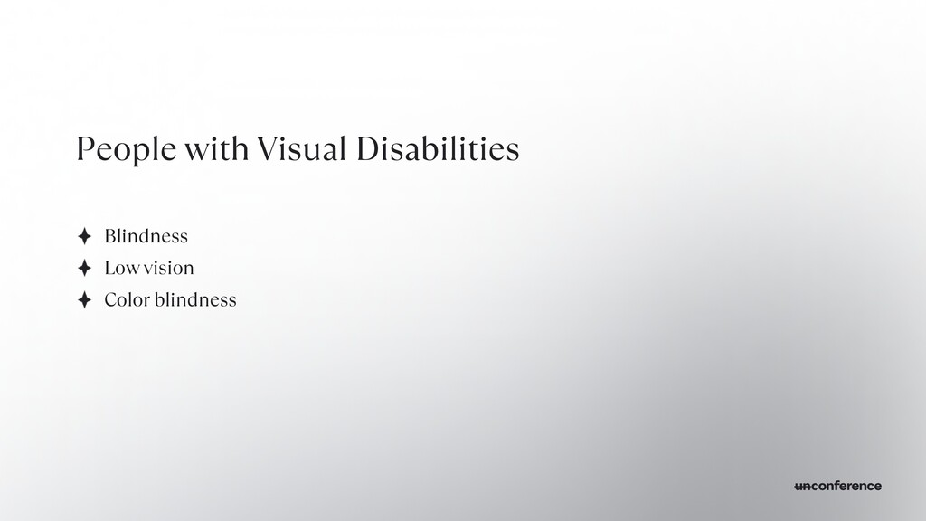 People with Visual Disabilities Blindness   Low...