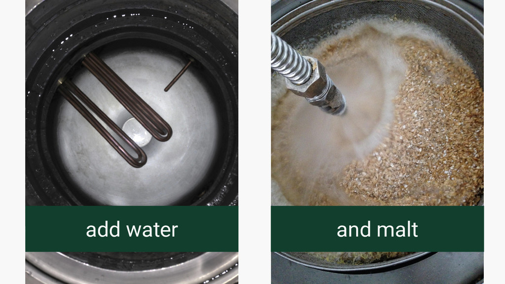 add water and malt