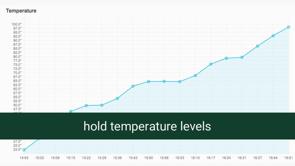 hold temperature levels