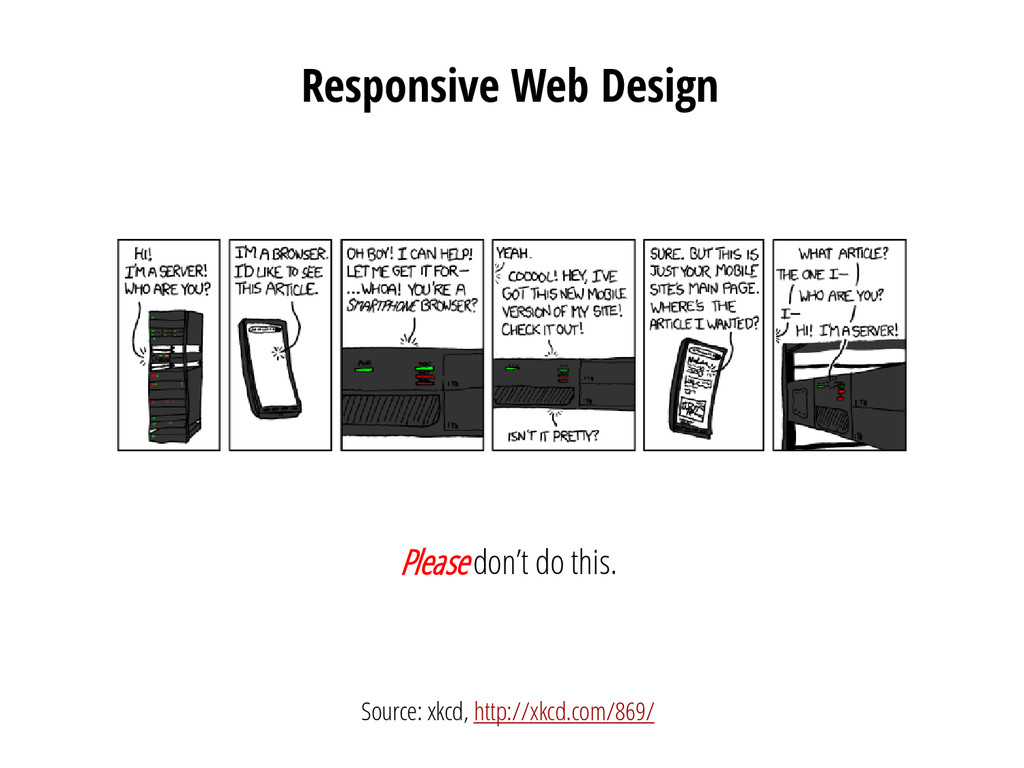 Responsive Web Design Please don't do this. Sou...