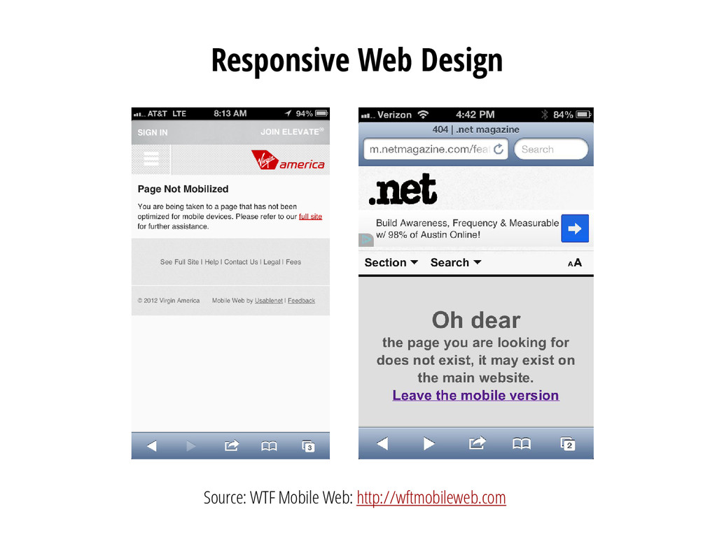 Responsive Web Design Source: WTF Mobile Web: h...