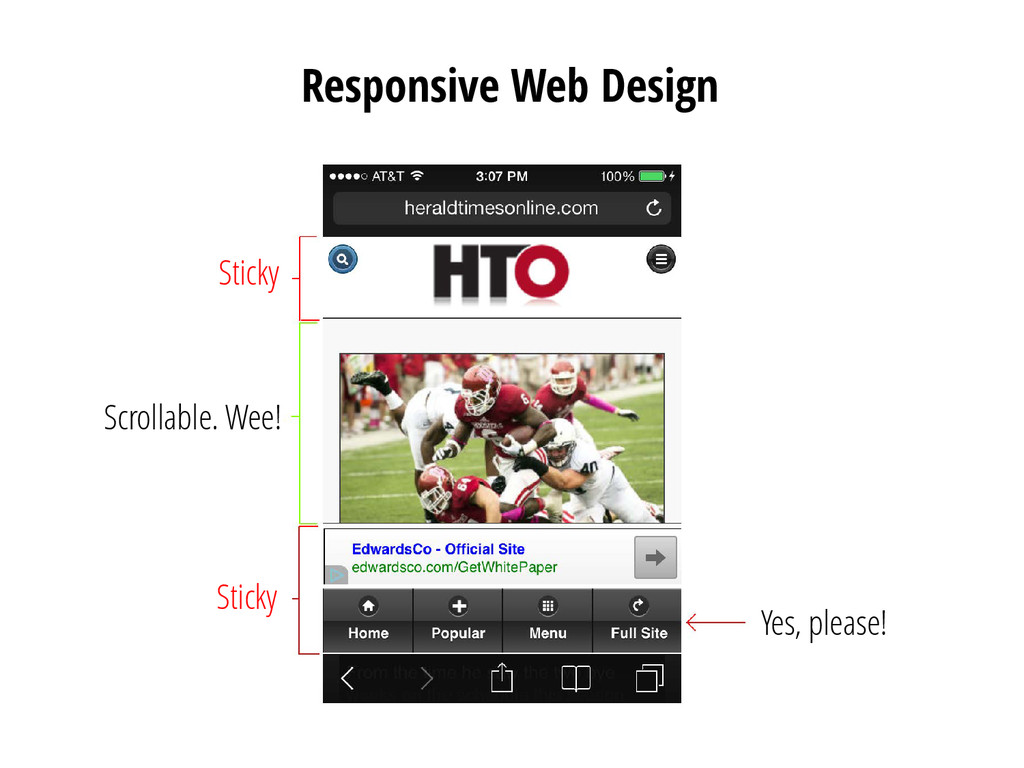 Responsive Web Design Sticky Sticky Scrollable....