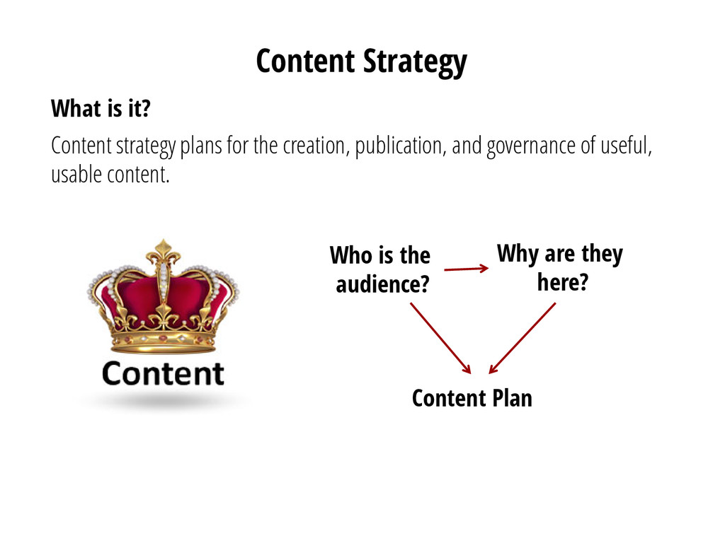 Content Strategy What is it? Content strategy p...