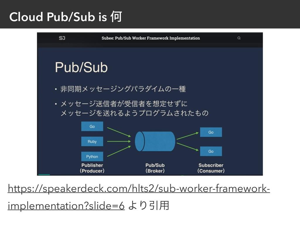 Cloud Pub/Sub is Կ https://speakerdeck.com/hlts...