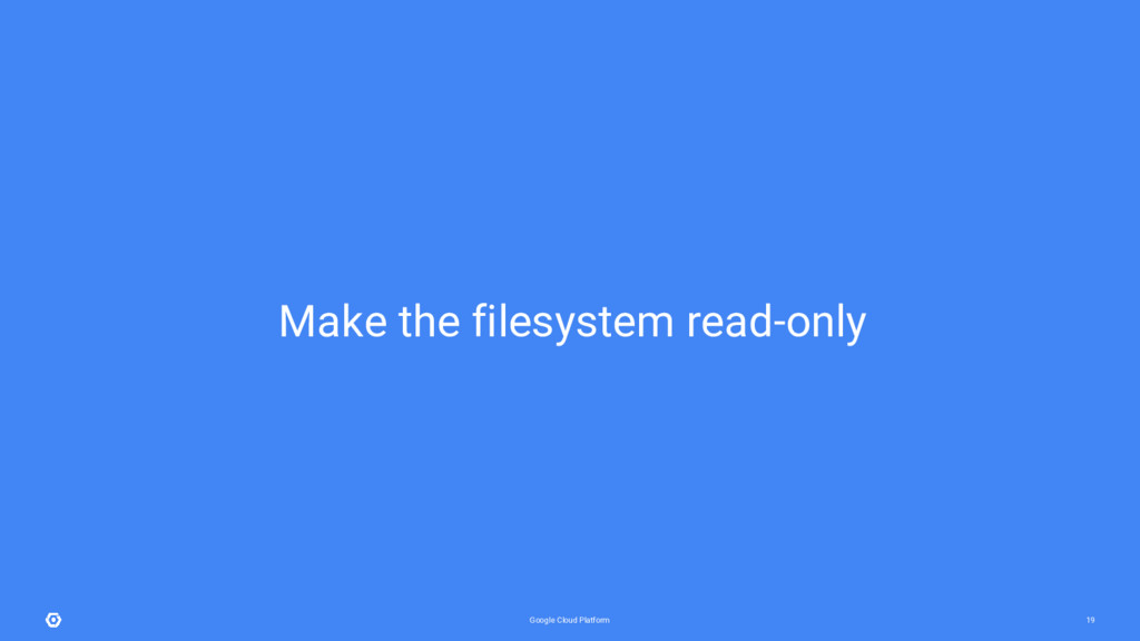 Google Cloud Platform 19 Make the filesystem re...
