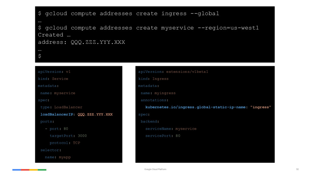 52 Google Cloud Platform apiVersion: v1 kind: S...