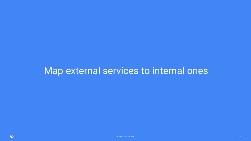 Google Cloud Platform 53 Map external services ...