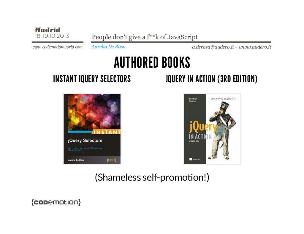 AUTHORED BOOKS INSTANT JQUERY SELECTORS JQUERY ...