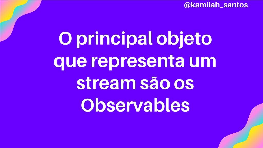 O principal objeto que representa um stream são...