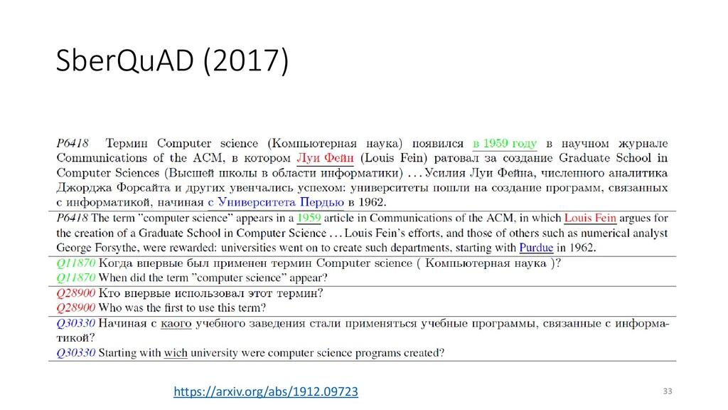 SberQuAD (2017) 33 https://arxiv.org/abs/1912.0...