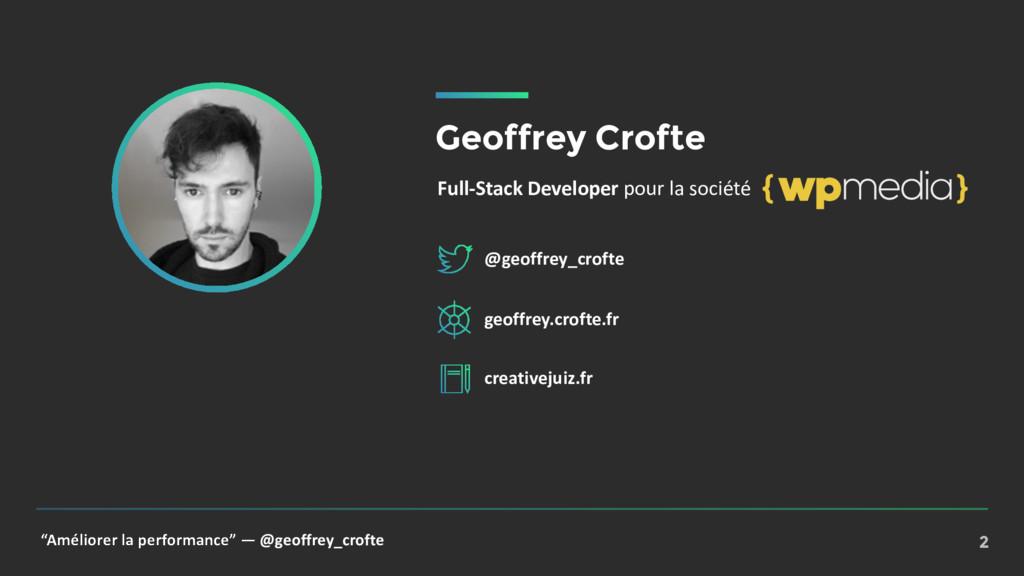 """""""Améliorer la performance"""" — @geoffrey_crofte 2..."""