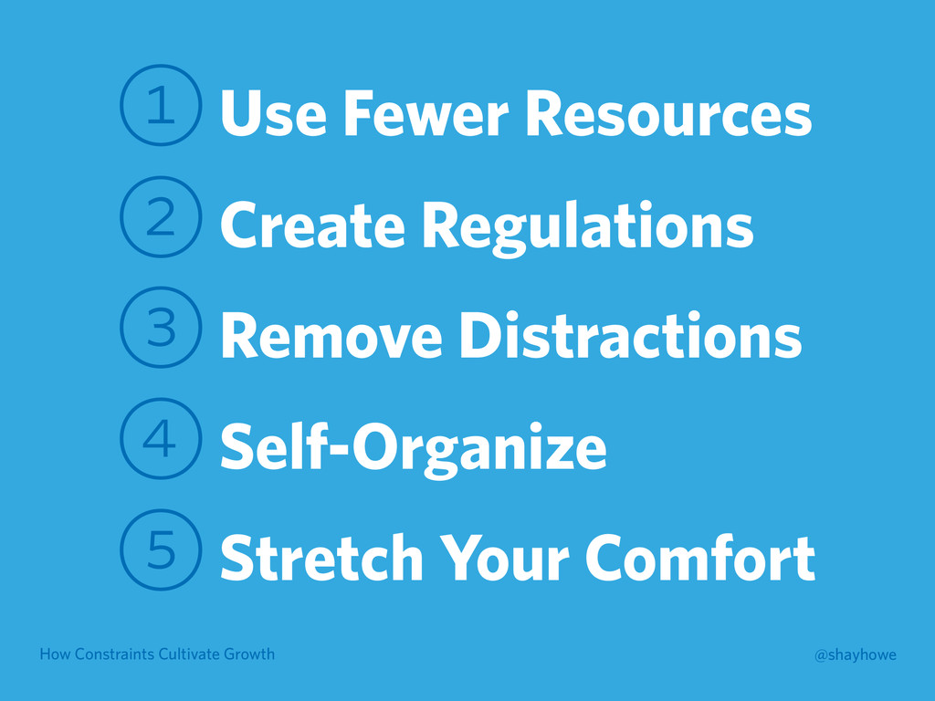 How Constraints Cultivate Growth @shayhowe 1 Us...