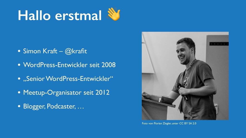 Hallo erstmal  • Simon Kraft – @krafit • WordPre...