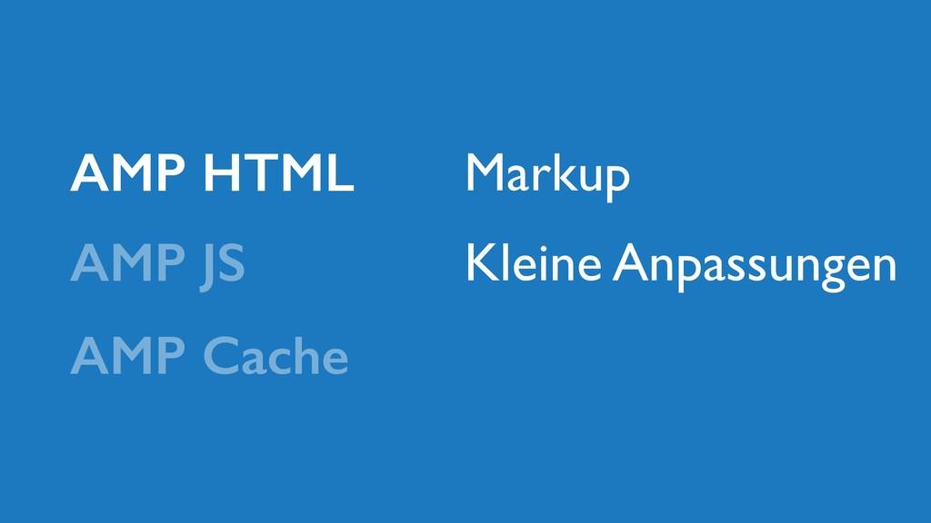 AMP JS AMP HTML AMP Cache Markup Kleine Anpassu...