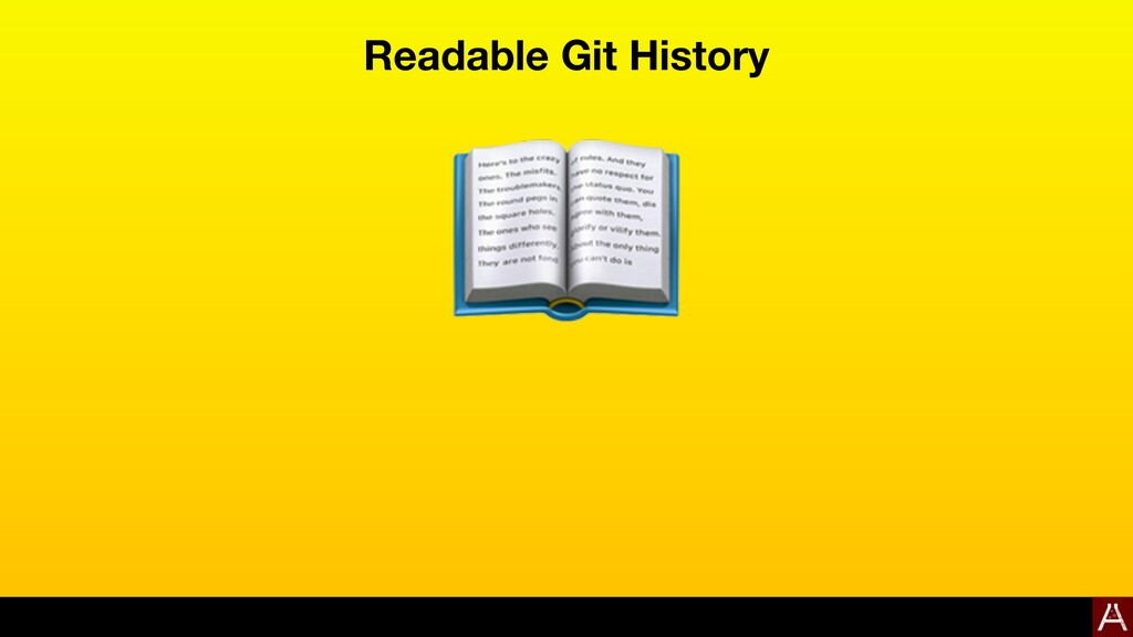 Readable Git History