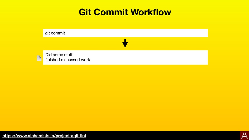 Git Commit Workflow git commit Did some stuff  fin...