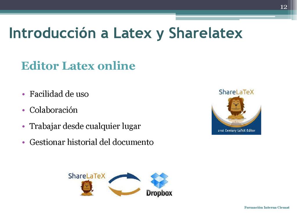 Editor Latex online • Facilidad de uso • Colabo...