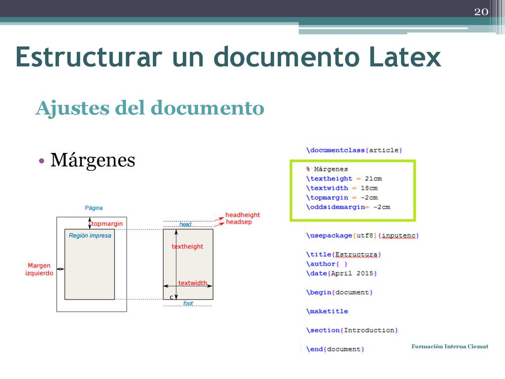 Ajustes del documento • Márgenes Formación Inte...