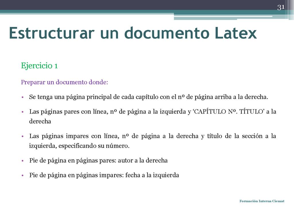 Ejercicio 1 Preparar un documento donde: • Se t...