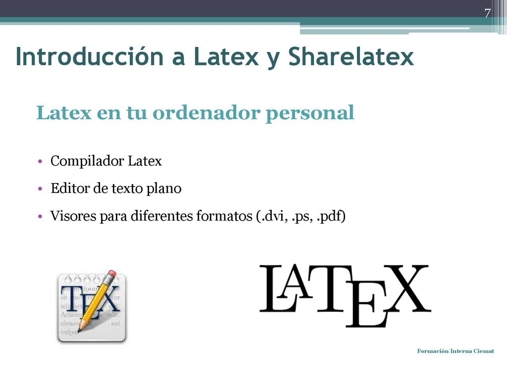 Latex en tu ordenador personal • Compilador Lat...