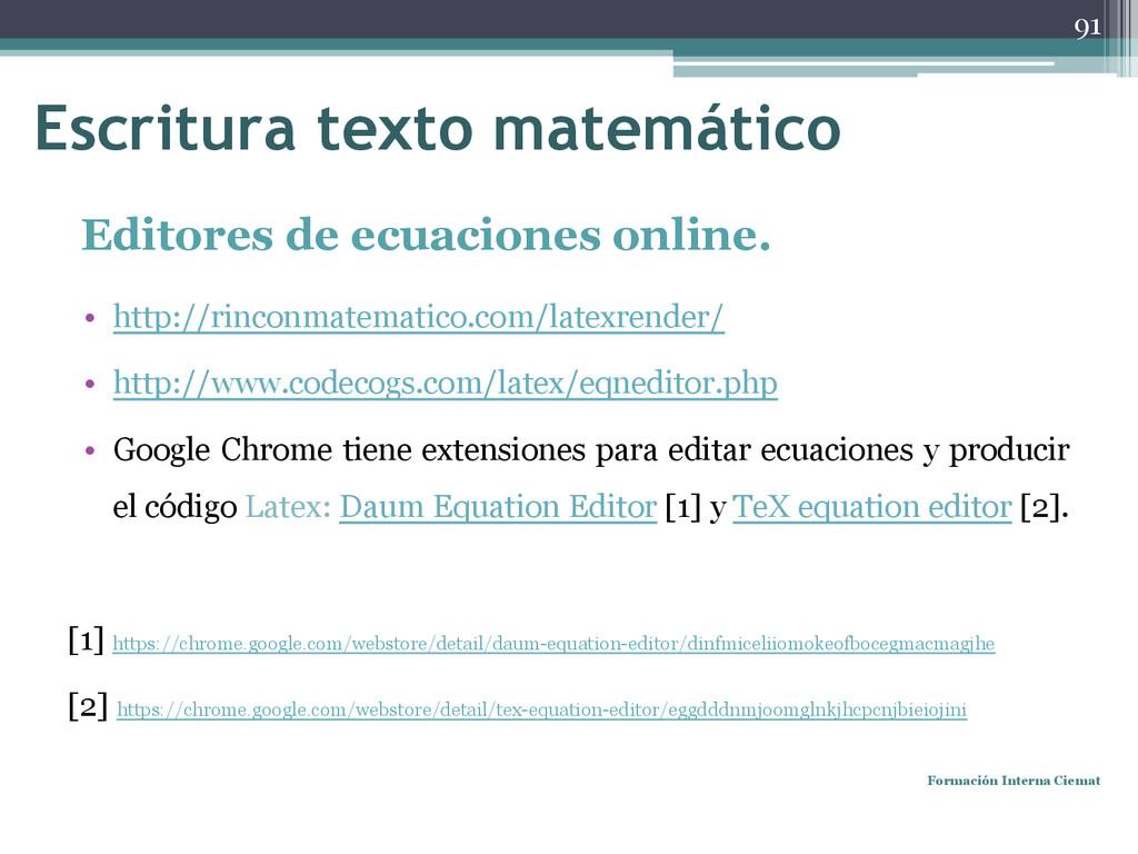 Editores de ecuaciones online. • http://rinconm...
